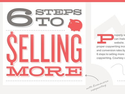 Six Steps to Selling More (infographic)