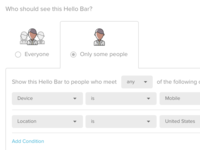 Targeting UI for Hello Bar