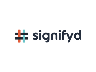 Logo refresh for Signifyd logo mark logo design hashtag simple security protection minimal mark logo icons icon branding