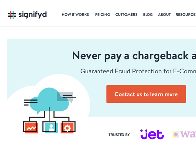 Signifyd Homepage Refresh layout colorful branding cta marketing landing page ux ui homepage