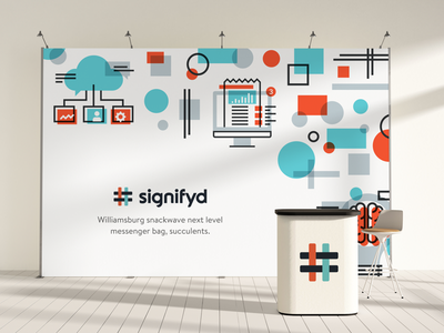 Booth Design for Signifyd simple identity font flat icons logo branding booth design booth