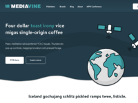 Landing page for Mediavine