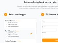 Landing page/form design for Mediavine