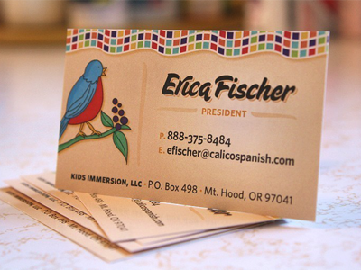 Calico Spanish Business Card by Jason Caldwell on Dribbble