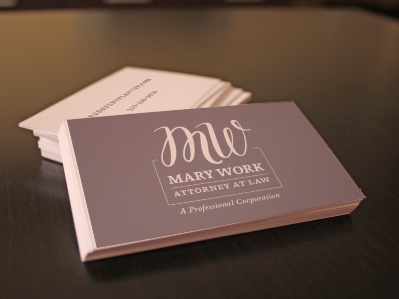 Mary Work Branding/Business Card print design graphic design mark initials font logo design marketing branding logo business card