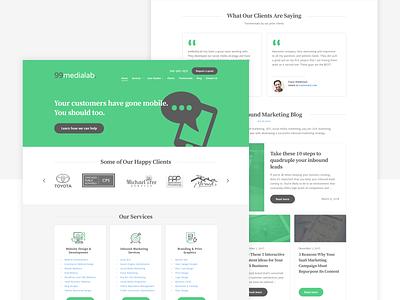 Website design for 99medialab website ux ui marketing design marketing logo lead capture landing page design landing page homepage design homepage font design cta branding