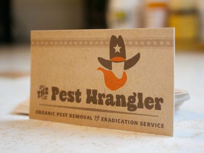 The Pest Wrangler (business cards)