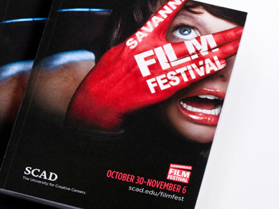 2010 Savannah Film Festival pocket guide savannah design art advertising scad festival photography booklet film festival graphic design mixed media campaign savannah film festival film fest