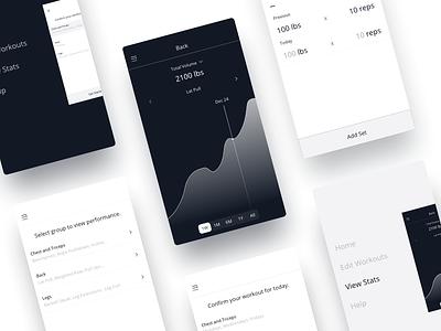 Insight Workout data graph tracking progress workout design ux ios iphone app