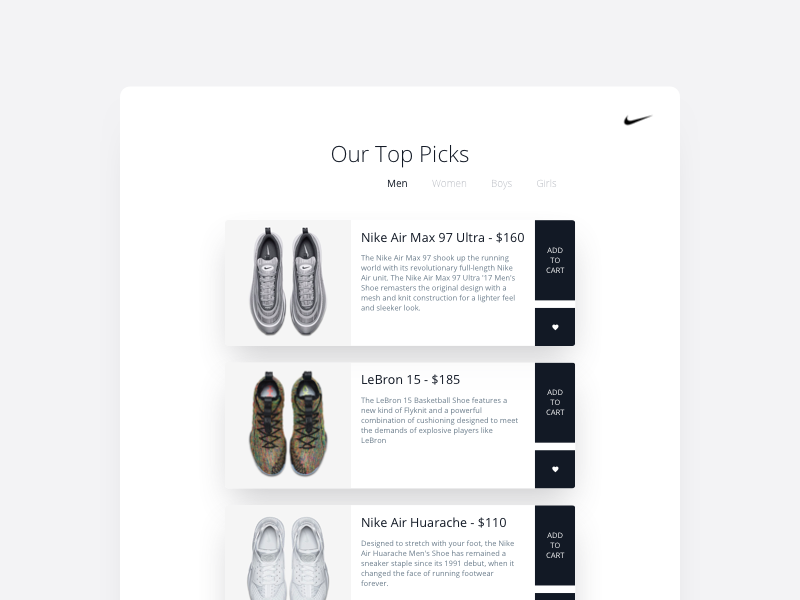 Nike Shoes clean minimal style store shopping design page website shoes nike