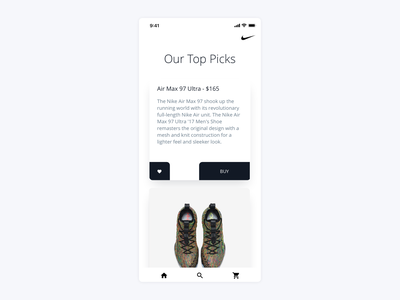 Nike Mobile checkout buy ui ux ios app commerce shoes nike shop