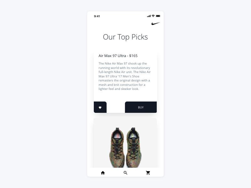 Nike Mobile checkout buy ui ux ios app commerce shoes nike shop