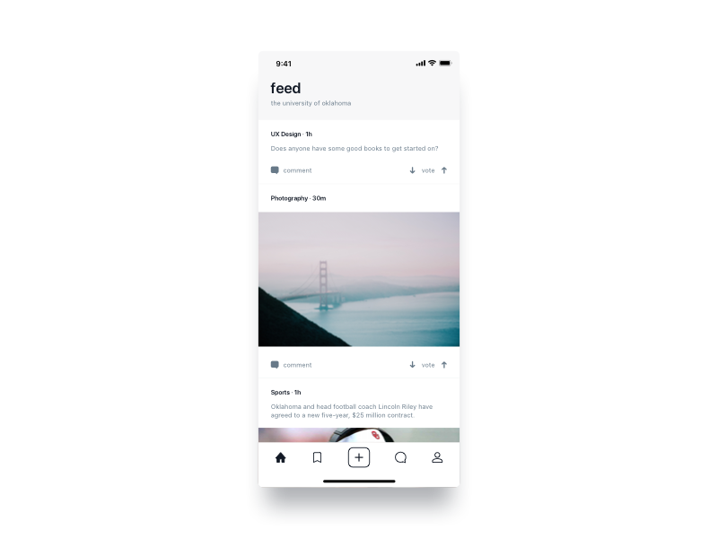 feed sharing idea feed network media social