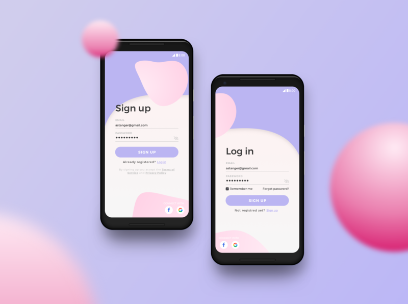 DailyUI #001 - Sign up app ui sign up screen signup dailyui 001 dailyui