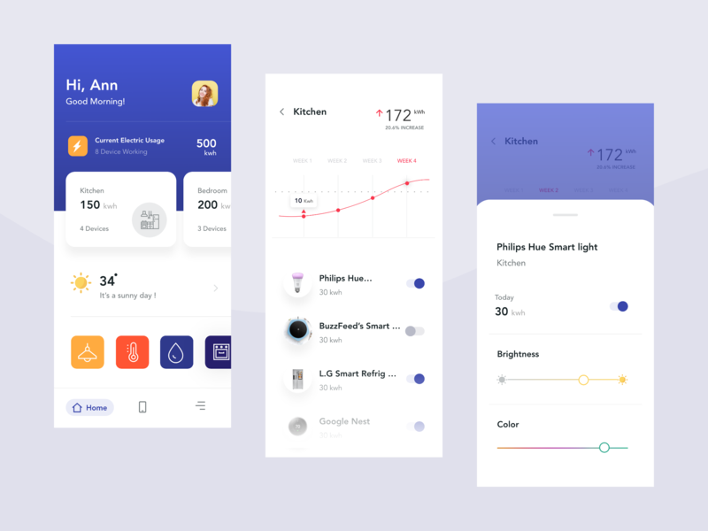 Smart Home App mobile app design ios simple automation smarthome ui clean app