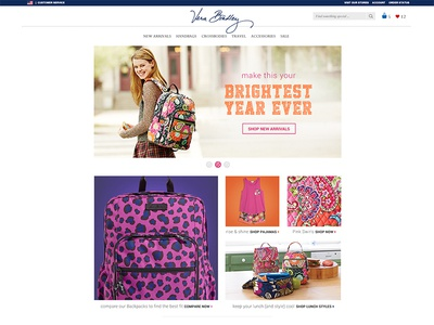 VeraBradley.com Homepage Redesign- Back to Campus 2014