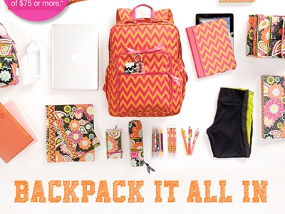 Email - Backpack it All In! Video! layout web gif video animation email design back to school back to campus vera bradley design html email