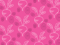 Beets and Pieces art line pattern wip roots vegetables pieces slices beet beets illustration