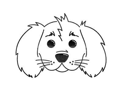 Mulligan Logo mulligan branding icon logo king charles puppy pup cavalier dog