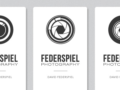 Federspiel Photography Logo and Business Card Concepts photography photo lens camera business card logo icon