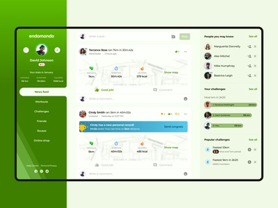 Endomondo - redesign concept