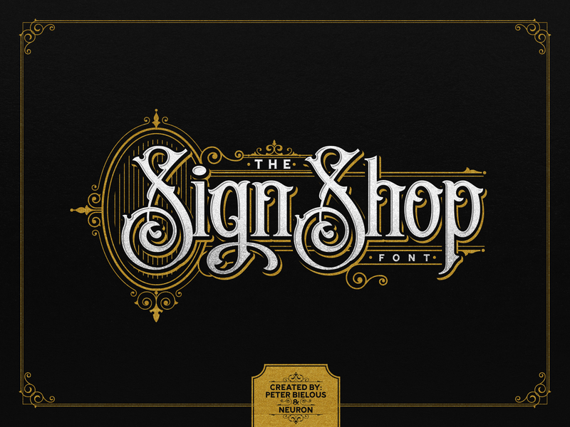 THE SIGN SHOP FONT design vector illustration custom lettering signage customtype typogaphy vintage font