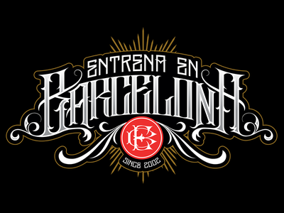 Entrena En Barcelona logo lettering custom