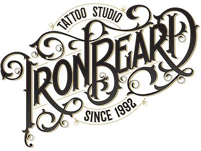 Iron Beard Tattoo Studio studio tattoo of logo lettered custom