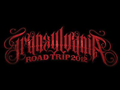 Transylvania road trip 2012 logo custom lettering