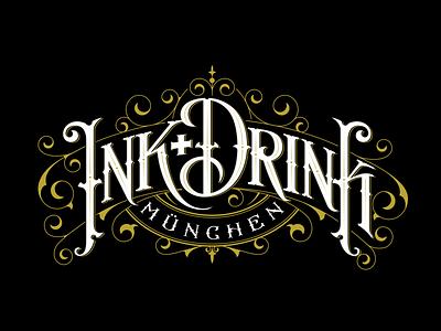 Ink+Drink tshirt logo design tshirt lettering