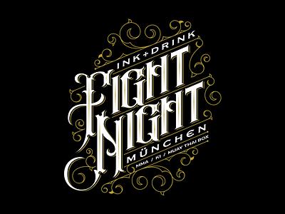 FIGHT NIGHT t-shirt design design t-shirt logo lettering custom