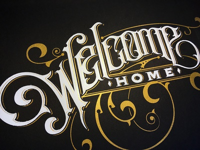Welcome Home illustration lettering