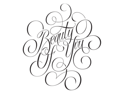 Beauty Of You - lettering project plotter airbrush vector illustration lettering
