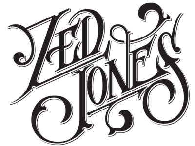 ZED JONES logo illustration logo lettering
