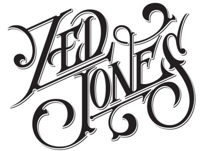 ZED JONES logo illustration logo lettering