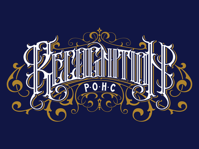 Recogniton - Limited edition t-shirt design tshirt illustration lettering