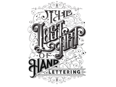 The Lost Art Of Hand Lettering vector illustration lettering
