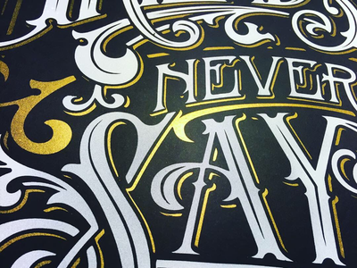 Friends never say goodbye - poster quote design illustration lettering