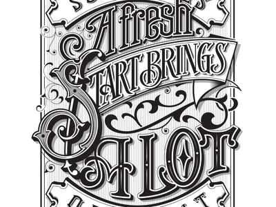 Sometimes a fresh start brings a lot of light - lettering quote typography vector illustration lettering
