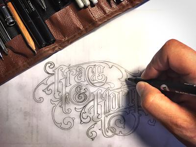 T-shirt design - work in progress :) lettering logo