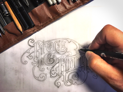 T-shirt design - work in progress :) lettering logo