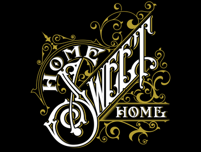 Home Sweet Home lettering poster typography hand vector illustration lettering