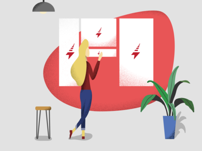 Thunder Creative Management Platform Illustration