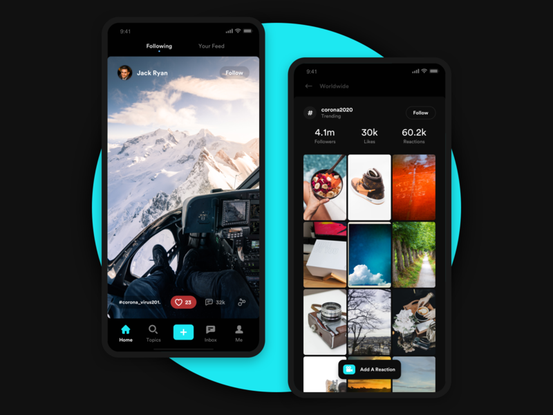 TikTok Like App UI Inspiration