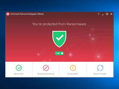 Cyber Security Windows App cyber security ui windows app