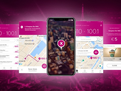 POC for a currency exchange app travel app ios ui mobile app