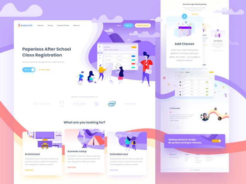 Landing Page - School Software 🍭🍦🏫