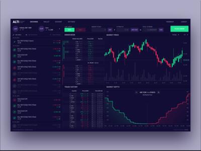 Alti Exchange Trader - Dark Mode 🖤🍷📊
