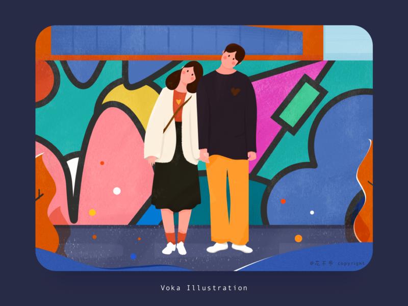 Chongqing color design emotion flat illustration