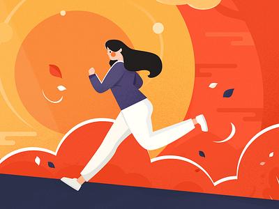 Running Girl running girl flat illustration design